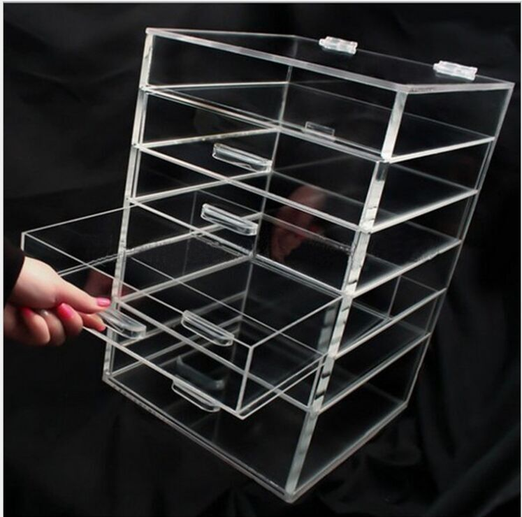 Transparent Silker Print Table Top Display Stands , Clear Acrylic Brochure Holders For Promotion