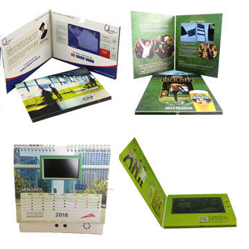 5 Inches LCD Video Card , LCD Screen Greeting Card 4C Printing With Media Player