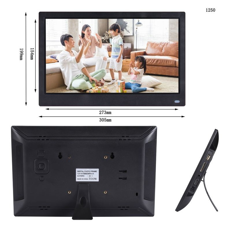 DC Power Input Touch Screen Digital Photo Frames 12.5'' IPS HD Android Touch Screen